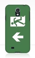 Running Man Fire Safety Exit Sign Emergency Evacuation Samsung Galaxy Mobile Phone Case 125
