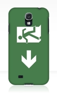 Running Man Fire Safety Exit Sign Emergency Evacuation Samsung Galaxy Mobile Phone Case 126