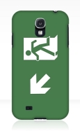 Running Man Fire Safety Exit Sign Emergency Evacuation Samsung Galaxy Mobile Phone Case 127