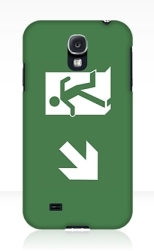 Running Man Fire Safety Exit Sign Emergency Evacuation Samsung Galaxy Mobile Phone Case 128