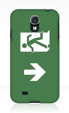 Running Man Fire Safety Exit Sign Emergency Evacuation Samsung Galaxy Mobile Phone Case 129