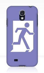 Running Man Fire Safety Exit Sign Emergency Evacuation Samsung Galaxy Mobile Phone Case 13