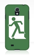 Running Man Fire Safety Exit Sign Emergency Evacuation Samsung Galaxy Mobile Phone Case 130