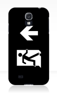 Running Man Fire Safety Exit Sign Emergency Evacuation Samsung Galaxy Mobile Phone Case 131