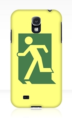 Running Man Fire Safety Exit Sign Emergency Evacuation Samsung Galaxy Mobile Phone Case 132