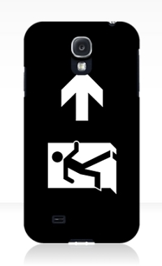 Running Man Fire Safety Exit Sign Emergency Evacuation Samsung Galaxy Mobile Phone Case 133