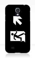 Running Man Fire Safety Exit Sign Emergency Evacuation Samsung Galaxy Mobile Phone Case 134