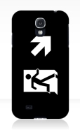 Running Man Fire Safety Exit Sign Emergency Evacuation Samsung Galaxy Mobile Phone Case 135