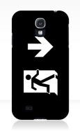Running Man Fire Safety Exit Sign Emergency Evacuation Samsung Galaxy Mobile Phone Case 136