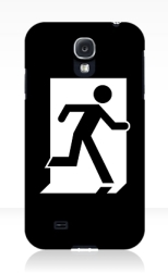 Running Man Fire Safety Exit Sign Emergency Evacuation Samsung Galaxy Mobile Phone Case 137
