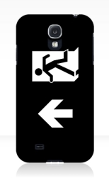 Running Man Fire Safety Exit Sign Emergency Evacuation Samsung Galaxy Mobile Phone Case 138