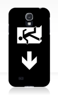 Running Man Fire Safety Exit Sign Emergency Evacuation Samsung Galaxy Mobile Phone Case 139