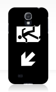 Running Man Fire Safety Exit Sign Emergency Evacuation Samsung Galaxy Mobile Phone Case 140