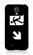 Running Man Fire Safety Exit Sign Emergency Evacuation Samsung Galaxy Mobile Phone Case 141