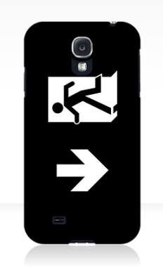 Running Man Fire Safety Exit Sign Emergency Evacuation Samsung Galaxy Mobile Phone Case 142