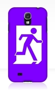 Running Man Fire Safety Exit Sign Emergency Evacuation Samsung Galaxy Mobile Phone Case 143