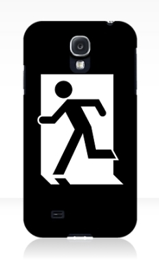 Running Man Fire Safety Exit Sign Emergency Evacuation Samsung Galaxy Mobile Phone Case 144