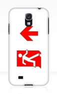 Running Man Fire Safety Exit Sign Emergency Evacuation Samsung Galaxy Mobile Phone Case 145
