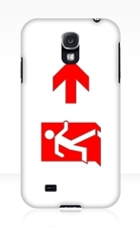 Running Man Fire Safety Exit Sign Emergency Evacuation Samsung Galaxy Mobile Phone Case 146