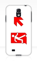 Running Man Fire Safety Exit Sign Emergency Evacuation Samsung Galaxy Mobile Phone Case 147