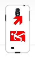 Running Man Fire Safety Exit Sign Emergency Evacuation Samsung Galaxy Mobile Phone Case 148