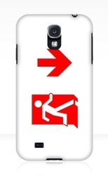 Running Man Fire Safety Exit Sign Emergency Evacuation Samsung Galaxy Mobile Phone Case 149