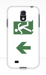 Running Man Fire Safety Exit Sign Emergency Evacuation Samsung Galaxy Mobile Phone Case 15