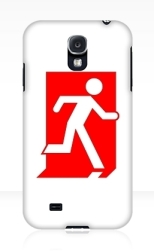 Running Man Fire Safety Exit Sign Emergency Evacuation Samsung Galaxy Mobile Phone Case 150