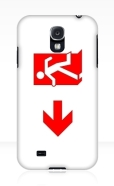 Running Man Fire Safety Exit Sign Emergency Evacuation Samsung Galaxy Mobile Phone Case 152