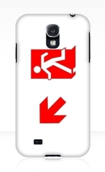 Running Man Fire Safety Exit Sign Emergency Evacuation Samsung Galaxy Mobile Phone Case 153