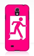 Running Man Fire Safety Exit Sign Emergency Evacuation Samsung Galaxy Mobile Phone Case 154