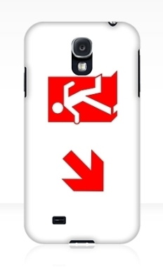 Running Man Fire Safety Exit Sign Emergency Evacuation Samsung Galaxy Mobile Phone Case 155