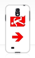 Running Man Fire Safety Exit Sign Emergency Evacuation Samsung Galaxy Mobile Phone Case 156