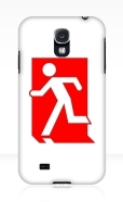 Running Man Fire Safety Exit Sign Emergency Evacuation Samsung Galaxy Mobile Phone Case 157