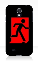 Running Man Fire Safety Exit Sign Emergency Evacuation Samsung Galaxy Mobile Phone Case 158