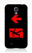 Running Man Fire Safety Exit Sign Emergency Evacuation Samsung Galaxy Mobile Phone Case 159