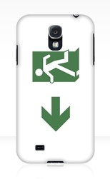 Running Man Fire Safety Exit Sign Emergency Evacuation Samsung Galaxy Mobile Phone Case 16