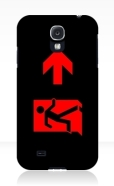 Running Man Fire Safety Exit Sign Emergency Evacuation Samsung Galaxy Mobile Phone Case 160