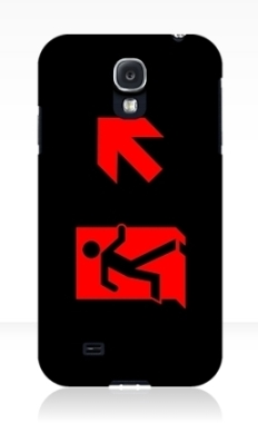 Running Man Fire Safety Exit Sign Emergency Evacuation Samsung Galaxy Mobile Phone Case 161