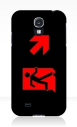 Running Man Fire Safety Exit Sign Emergency Evacuation Samsung Galaxy Mobile Phone Case 162