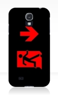 Running Man Fire Safety Exit Sign Emergency Evacuation Samsung Galaxy Mobile Phone Case 163