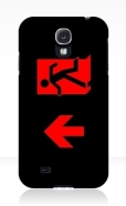 Running Man Fire Safety Exit Sign Emergency Evacuation Samsung Galaxy Mobile Phone Case 164