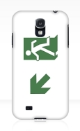 Running Man Fire Safety Exit Sign Emergency Evacuation Samsung Galaxy Mobile Phone Case 17