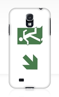 Running Man Fire Safety Exit Sign Emergency Evacuation Samsung Galaxy Mobile Phone Case 18