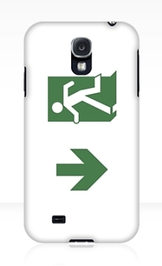 Running Man Fire Safety Exit Sign Emergency Evacuation Samsung Galaxy Mobile Phone Case 19