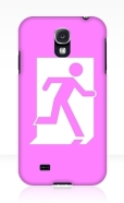 Running Man Fire Safety Exit Sign Emergency Evacuation Samsung Galaxy Mobile Phone Case 2