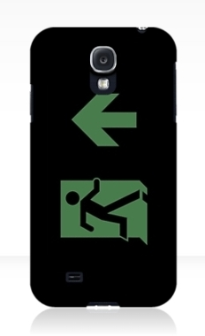 Running Man Fire Safety Exit Sign Emergency Evacuation Samsung Galaxy Mobile Phone Case 21