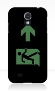 Running Man Fire Safety Exit Sign Emergency Evacuation Samsung Galaxy Mobile Phone Case 22