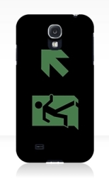 Running Man Fire Safety Exit Sign Emergency Evacuation Samsung Galaxy Mobile Phone Case 23