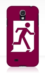 Running Man Fire Safety Exit Sign Emergency Evacuation Samsung Galaxy Mobile Phone Case 24